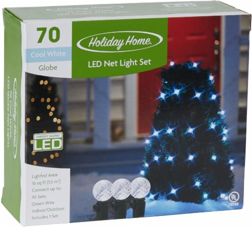 Holiday Home® 70 LED Net Lights - Cool White Perspective: front