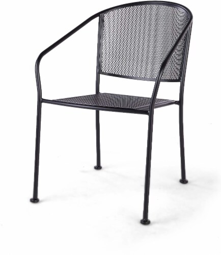 HD Designs Outdoors Taylor Mesh Stacking Chair - Black Perspective: front
