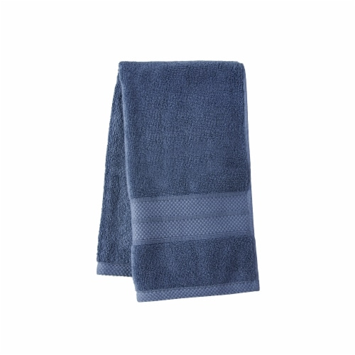 HD Designs Turkish Hand Towel - Vintage Indigo Perspective: front