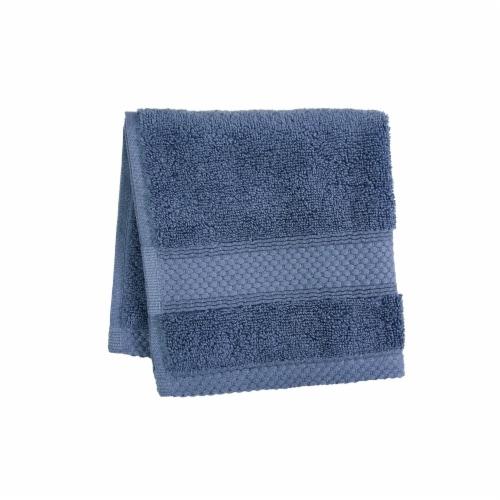 HD Designs Turkish Washcloth - Vintage Indigo Perspective: front