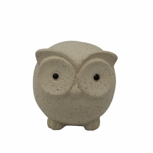HD Designs Ceramic Owl - Cream Perspective: front