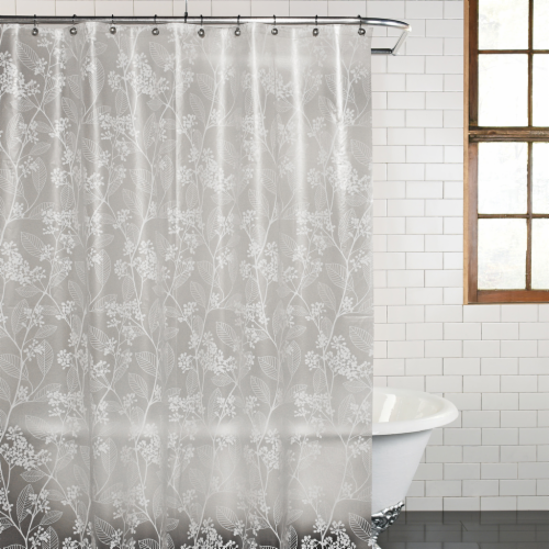 Everyday Living Spring PEVA Shower Curtain - White Perspective: front