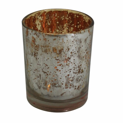 HD Designs Mercury Glass Votive Candle Holder - Silver Perspective: front