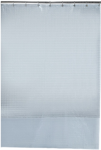Everyday Living Macro Embossed PEVA Shower Curtain - Clear Perspective: front