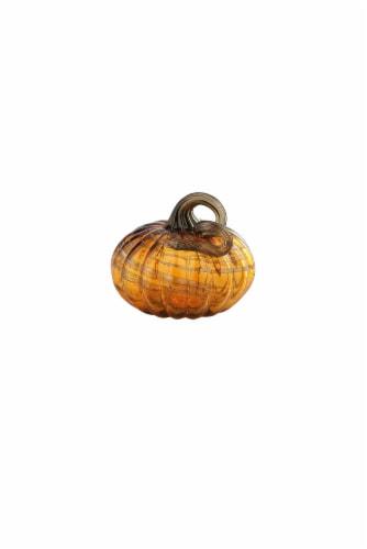 HD Designs Glass Pumpkin - Amber Perspective: front