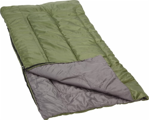 Glacier's Edge® 40 Degree 3.6-Pound Sleeping Bag - Green/Gray Perspective: front