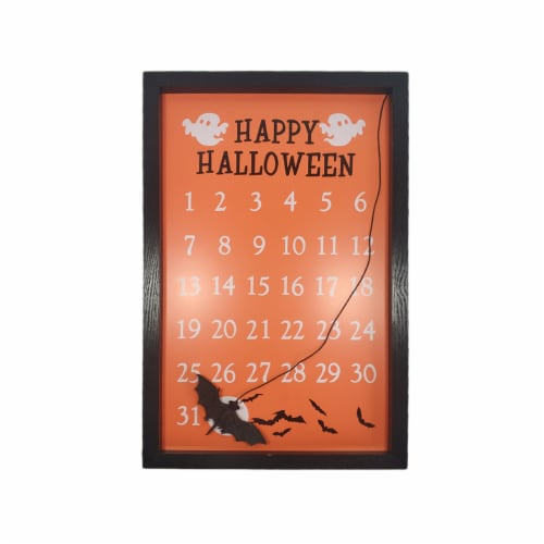 Holiday Home Halloween Countdown Calendar - Orange Perspective: front