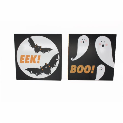 Holiday Home Halloween Block Sign - Assorted Perspective: front