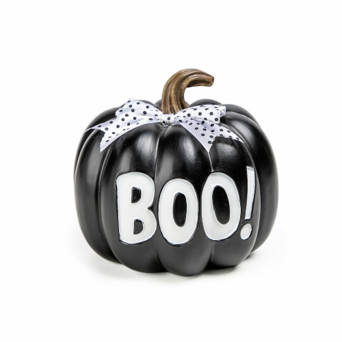 Holiday Home® Pumpkin with Bow Boo Perspective: front