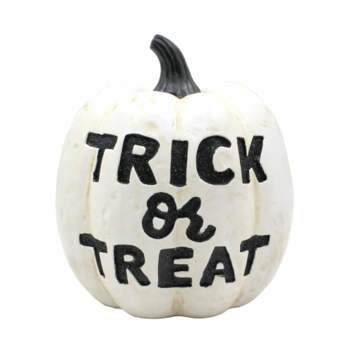 Holiday Home Trick Or Treat Pumpkin - Ivory Perspective: front
