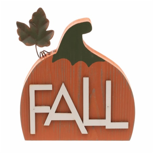 Holiday Home Harvest/Fall Pumpkin Mini Sign - Assorted Perspective: front