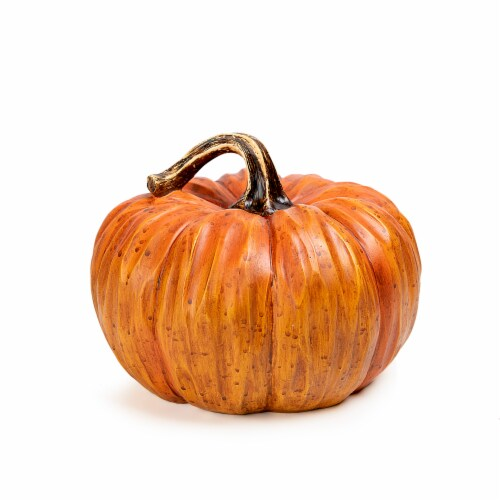 Holiday Home Carved Look Pumpkin Decor - Orange Perspective: front