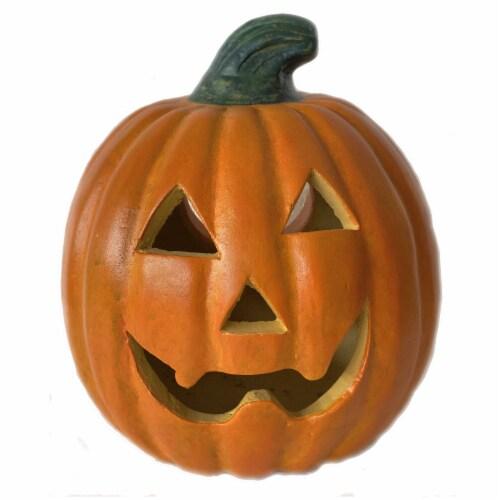 Holiday Home® Small Happy Gajo Pumpkin Decor - Orange Perspective: front