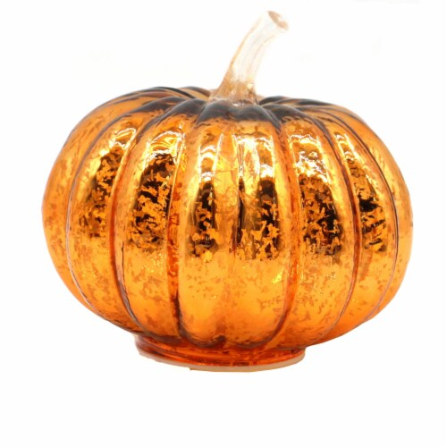 Holiday Home LED Glass Pumpkin - Orange Perspective: front