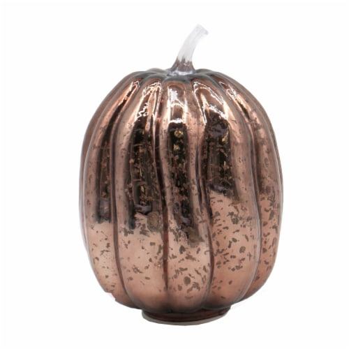 Holiday Home LED Glass Pumpkin - Brown Perspective: front