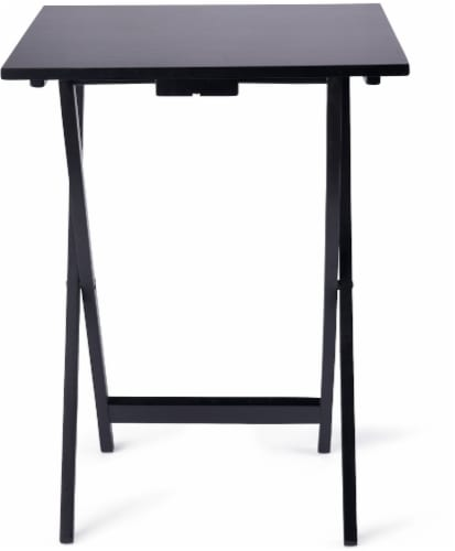 Everyday Living TV Tray - Black Perspective: front