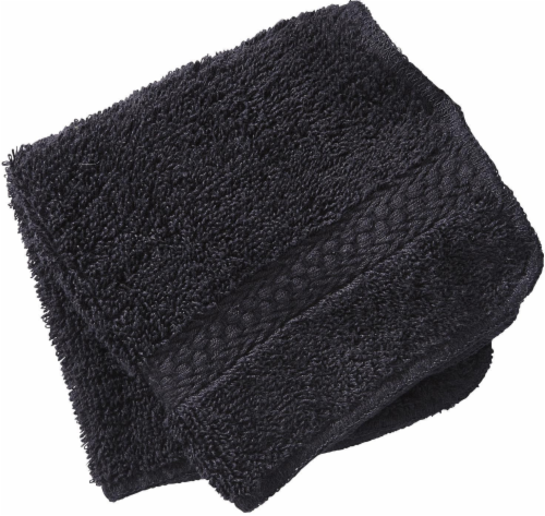 Everyday Living Washcloth - Jet Black Perspective: front