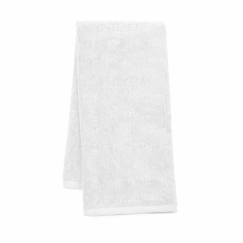 Dip Solid Hand Towel - White Perspective: front