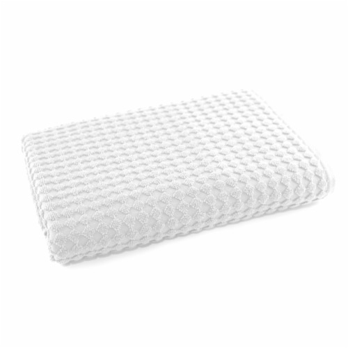Dip Textured Bath Towel - White Perspective: front