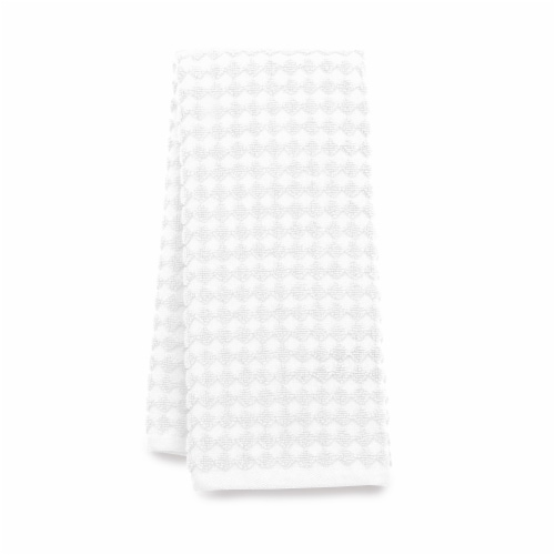 Dip Textured Hand Towel - White Perspective: front
