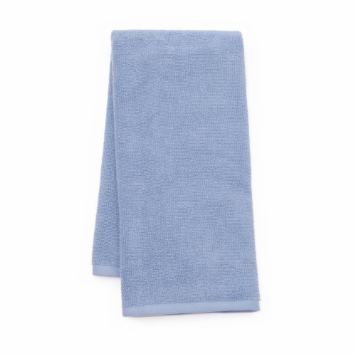 Dip Solid Hand Towel - Kentucky Blue Perspective: front
