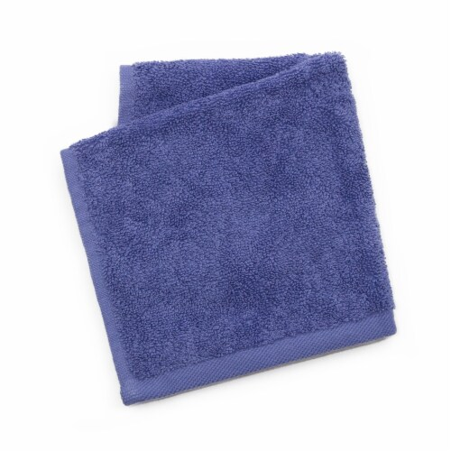 Dip Solid Cotton Wash Cloth - Bleached Denim Perspective: front