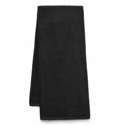 Dip Solid Hand Towel - Jet Black Perspective: front
