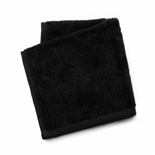 Dip Solid Wash Cloth - Jet Black Perspective: front