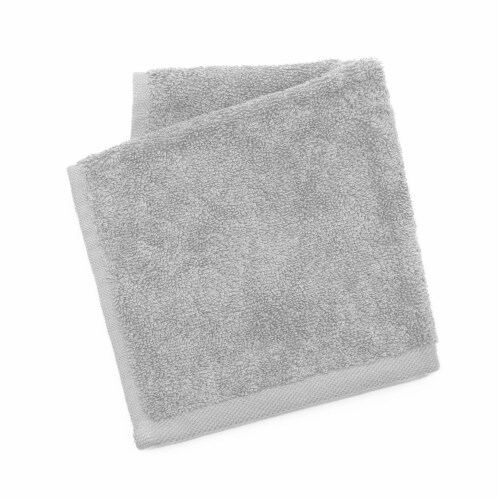 Dip Solid Wash Cloth - Pearl Blue Perspective: front