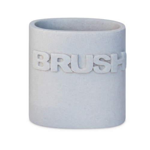 Dip Wash Toothbrush Holder - Pearl Blue Perspective: front