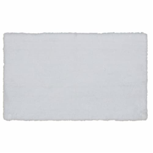 Dip Composition Bath Rug - White Perspective: front