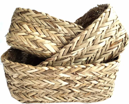 HD Designs Small Grass Basket Perspective: front