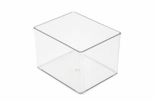 Everyday Living Storage Bin - Clear Perspective: front
