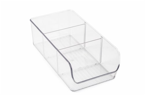 Everyday Living 3 Compartment Storage Bin - Clear Perspective: front