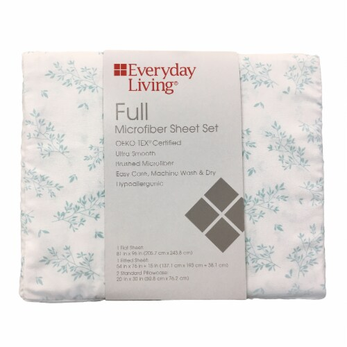 Everyday Living® Branches Microfiber Sheet Set Perspective: front