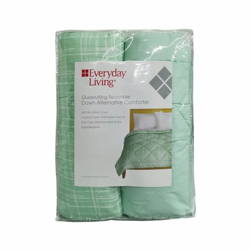 Everyday Living® Reversible Down Comforter - Teal Perspective: front