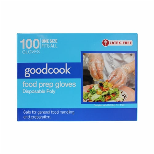 Everyday Living® Goodcook® Disposable Poly Food Prep Gloves - Clear Perspective: front
