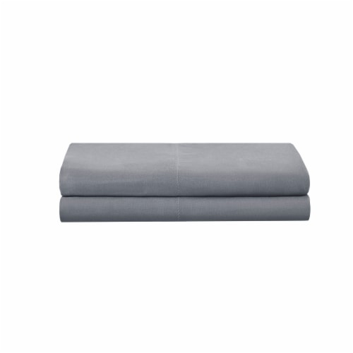 Modavari Home Fashions King Pillow Case - Light Gray Perspective: front