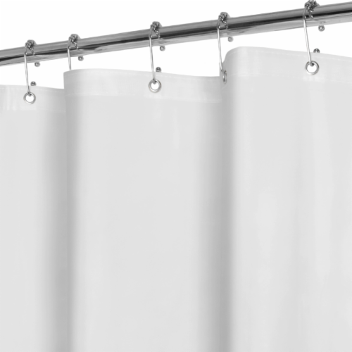 Everyday Living Mildew-Resistant Shower Curtain Liner - White Perspective: front