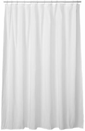 Everyday Living Microfiber Shower Curtain Liner - White Perspective: front