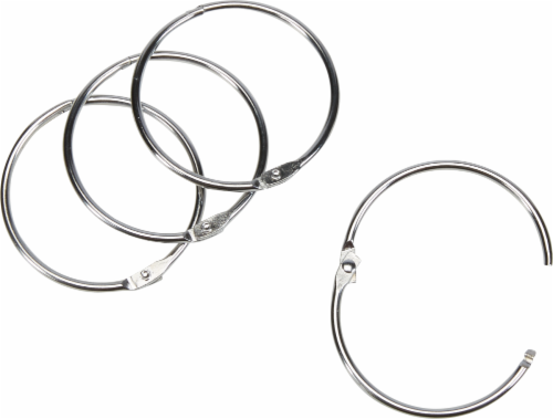 Everyday Living O-Ring Shower Curtain Binder Hooks - Chrome Perspective: front