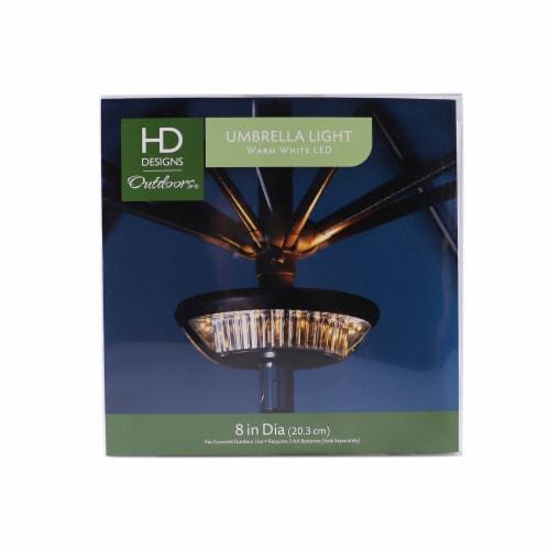 HD Designs Outdoors LED Umbrella Light - Black Perspective: front
