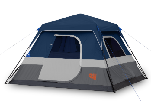Glacier's Edge 6-Person Instant Cabin Tent - Navy/Gray Perspective: front