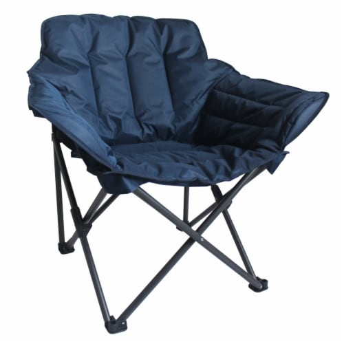 Glacier's Edge Alternative Club Chair with Snap Clip Closure - Navy Perspective: front