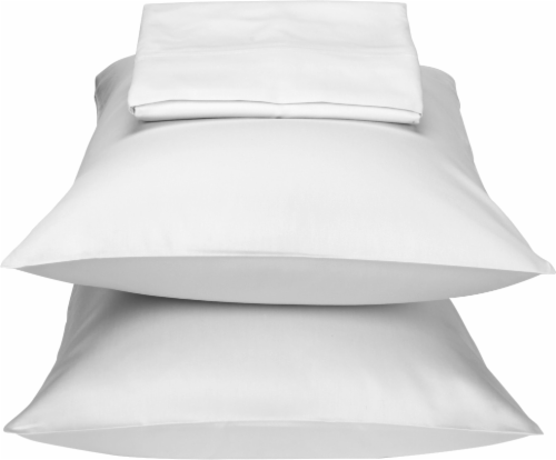 HD Designs 300 Thread Count Sheet Set - Bright White Perspective: front