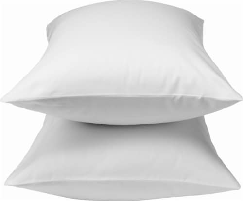 HD Designs Pillowcase - 300 Thread Count - 2 Pack - Bright White Perspective: front