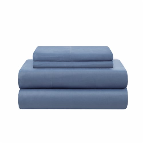 Modavari Home Fashions Queen Sized Sheet Set - Blue Perspective: front
