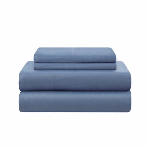 Modavari Home Fashions King Sized Sheet Set - Blue Perspective: front