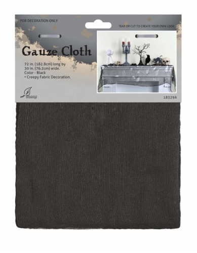 Holiday Home Gauze Decor Cloth - Black Perspective: front