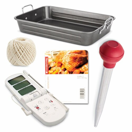 Everyday Living® Turkey Roasting Kit with Roasting Pan Perspective: front